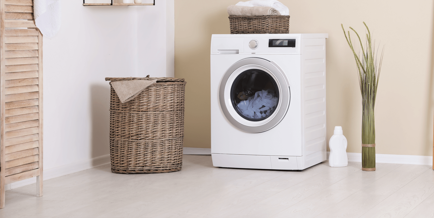 Clothes Washer in Modern Home